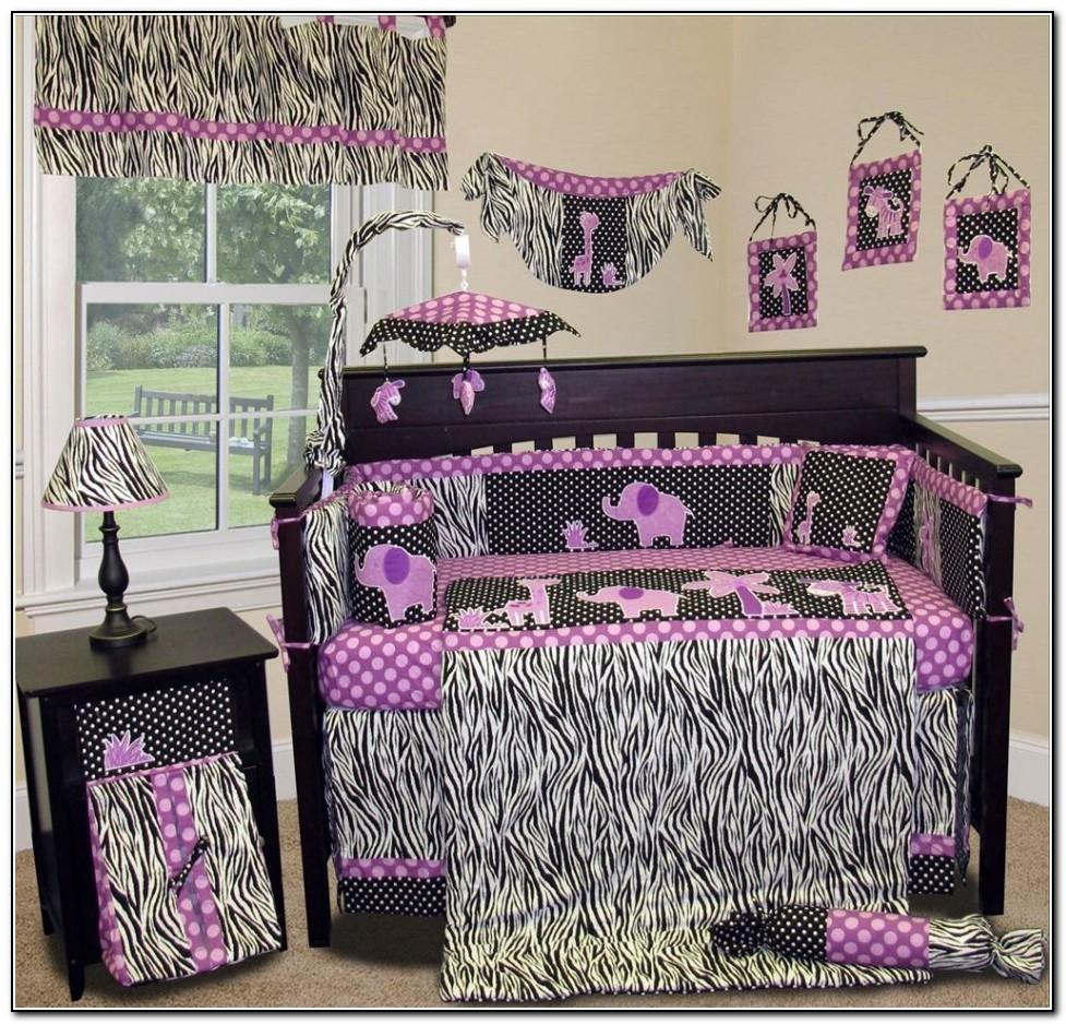 Purple Zebra Bedding For Cribs