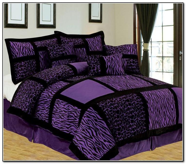 Purple Zebra Bedding Full Size