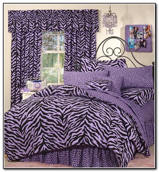 Purple Zebra Bedding Full