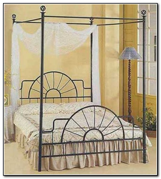 Rod Iron Canopy Bed