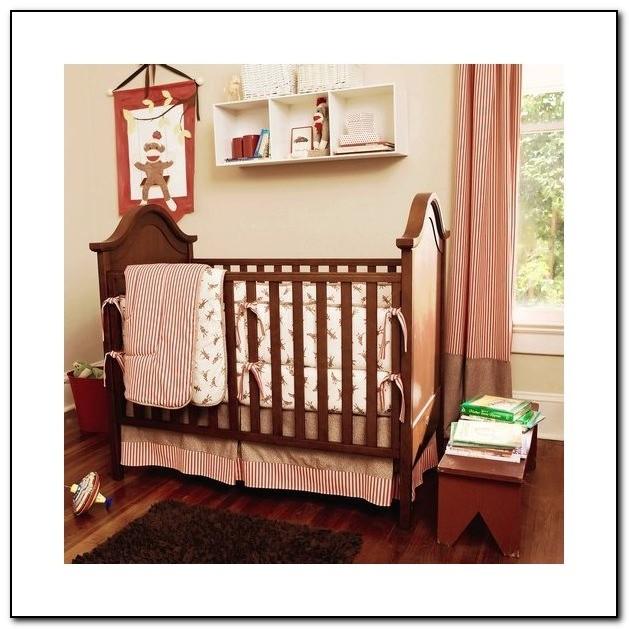 Sock Monkey Crib Bedding Sets