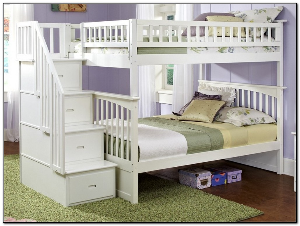 Staircase Bunk Bed White