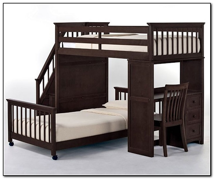 Staircase Bunk Bed With Desk