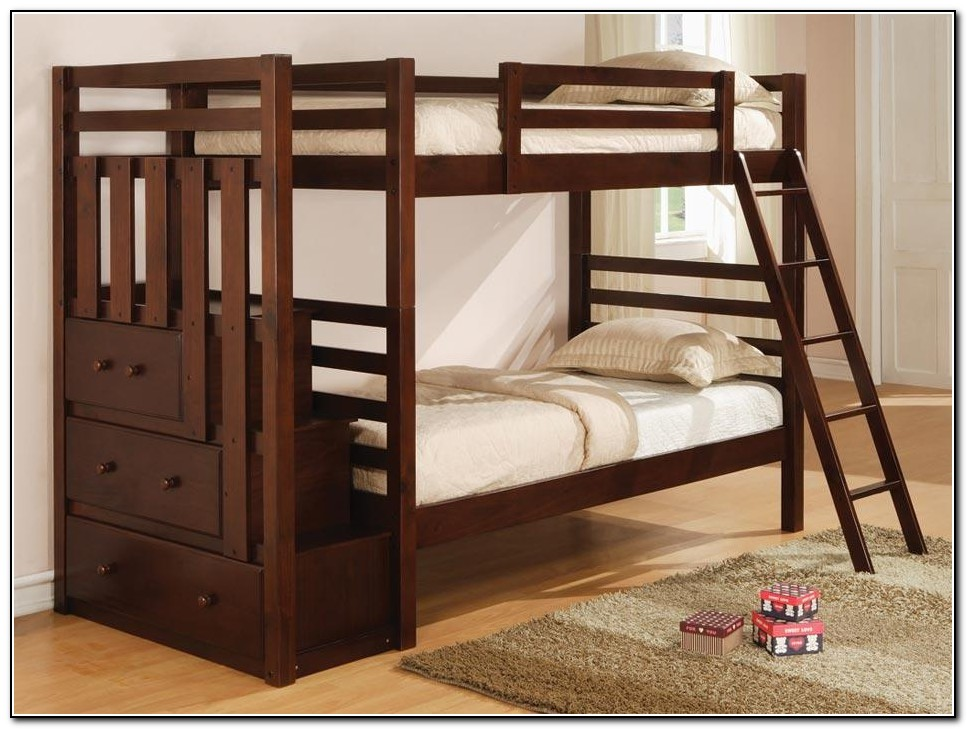 Staircase Bunk Bed With Trundle