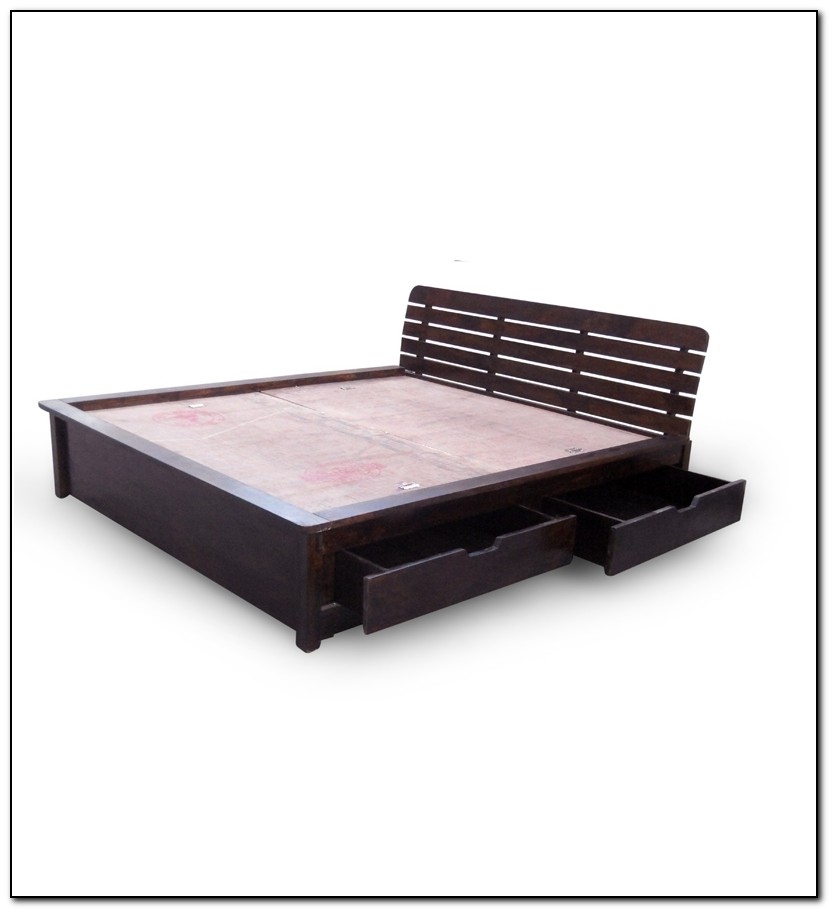 Storage Bed Queen Frame