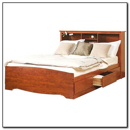 Storage Platform Bed Queen