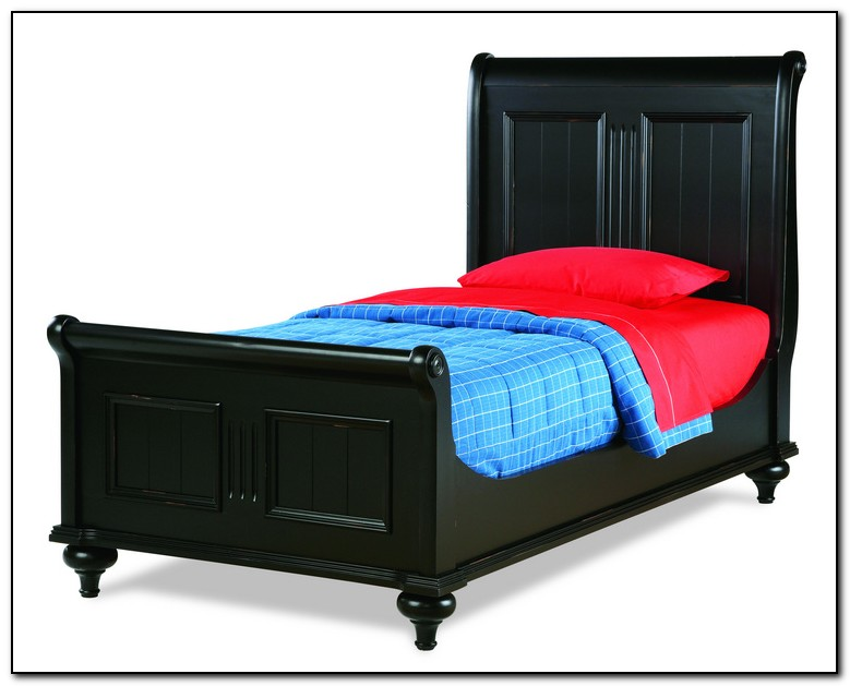 Twin Sleigh Bed Black