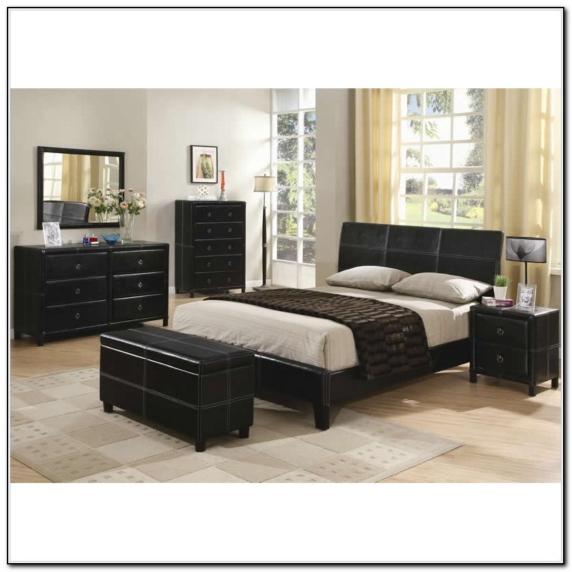 Upholstered Queen Bed Set