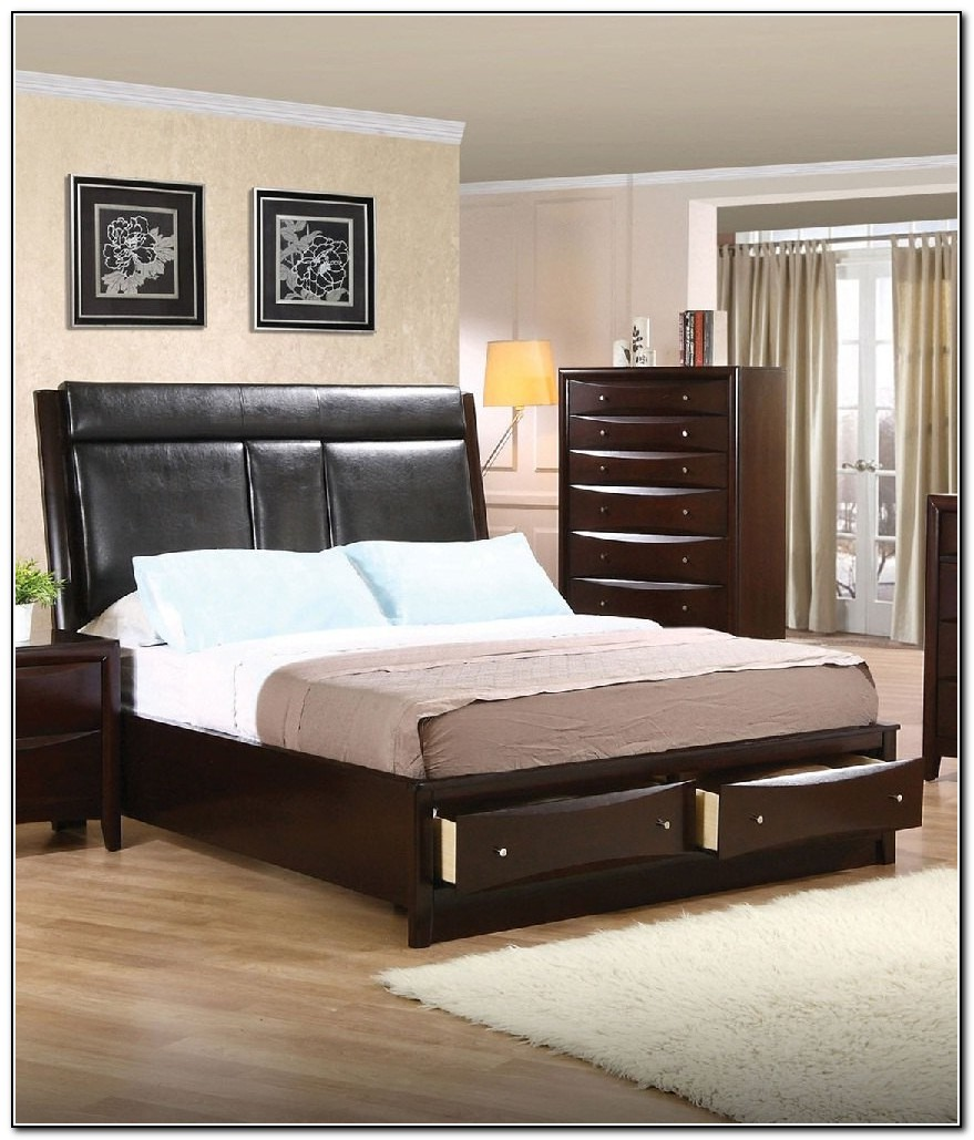 Upholstered Storage Bed Queen