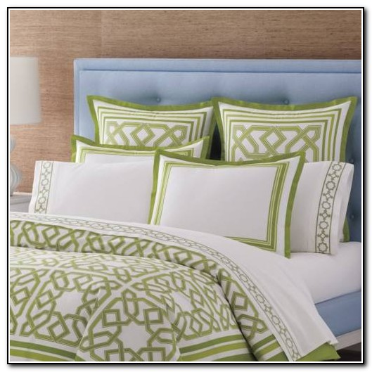 White And Mint Green Bedding