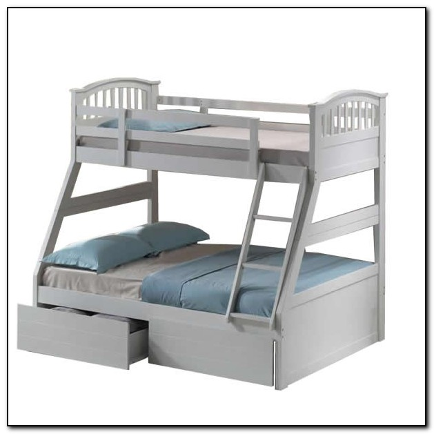 White Bunk Bed With Drawers