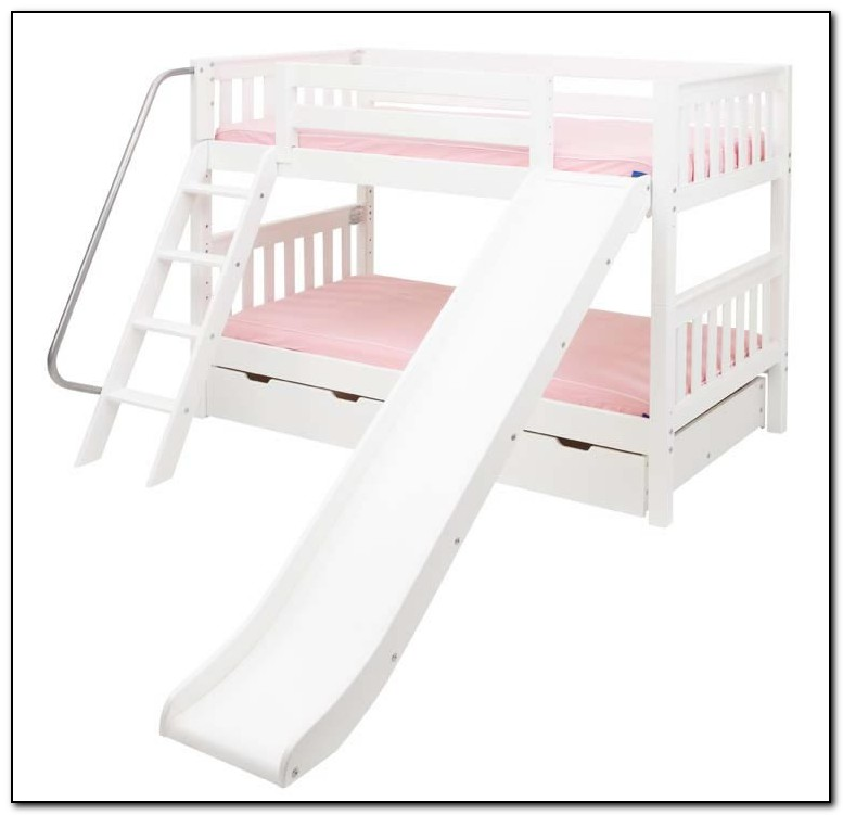 White Bunk Bed With Slide