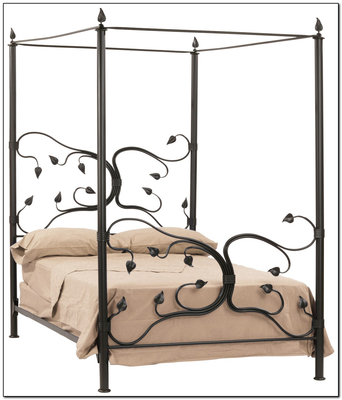 Wrought Iron Canopy Bed Frame