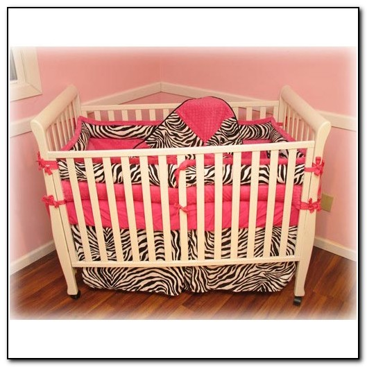 Zebra Crib Bedding Hot Pink