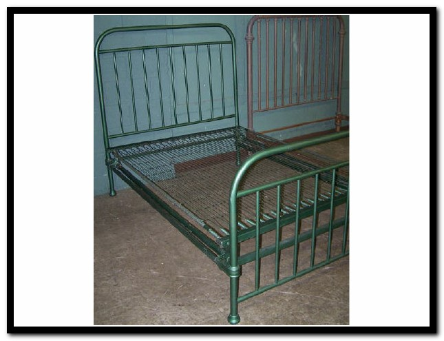 Antique Iron Bed Springs