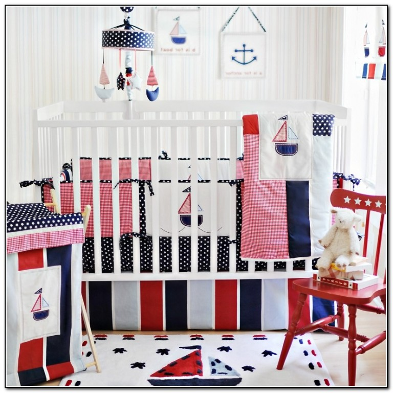 Baby Girl Nautical Crib Bedding
