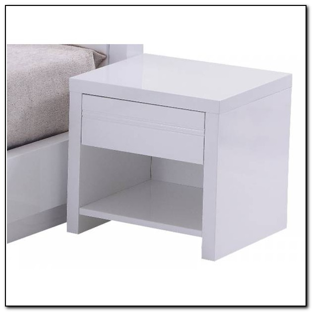 Bed Side Tables White