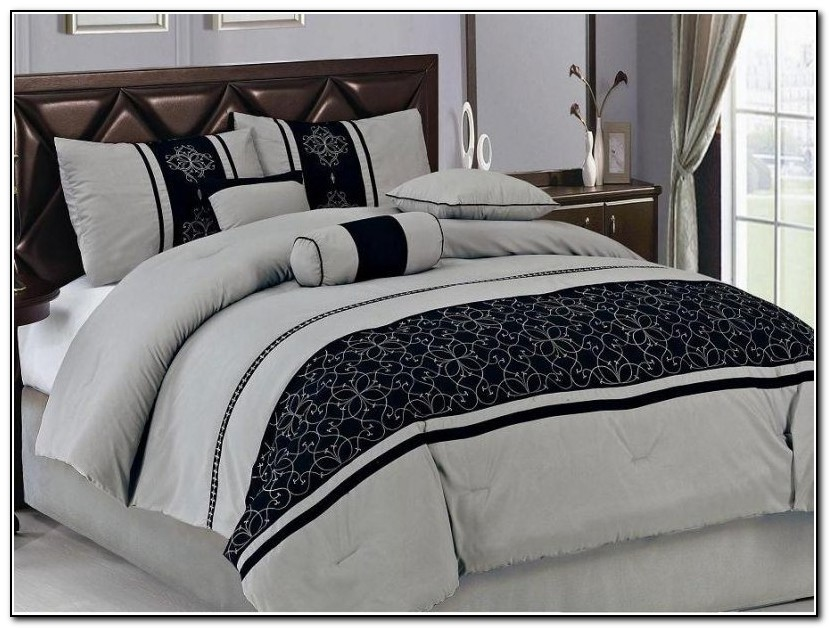 Black And Gray Bedding Sets