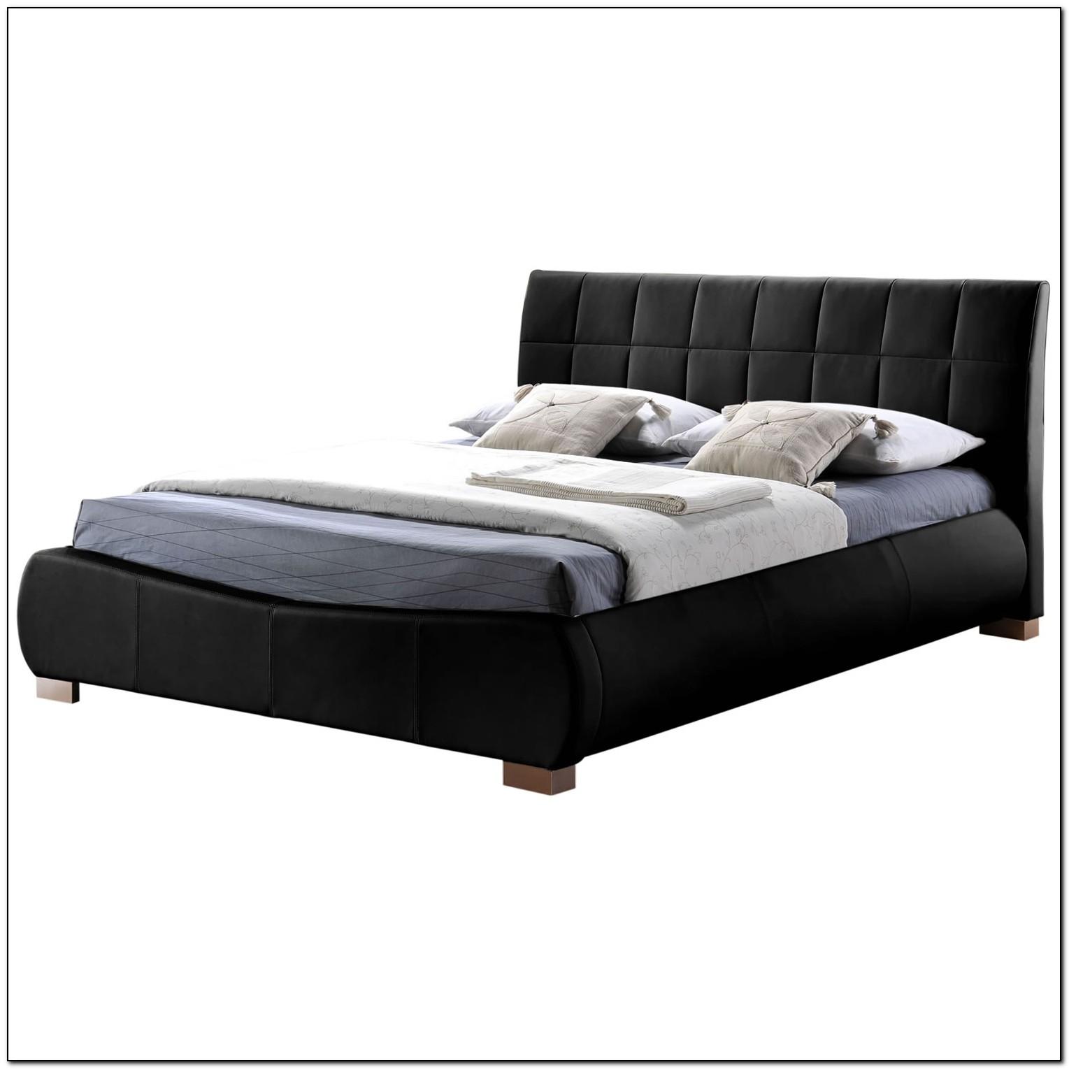Black Leather Bed Frame