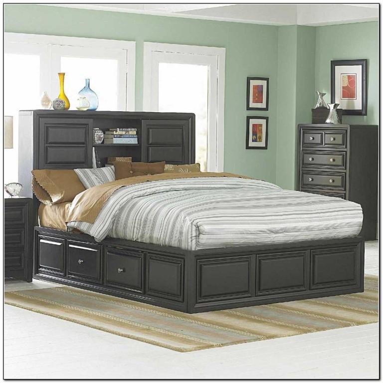 Black Storage Beds Queen