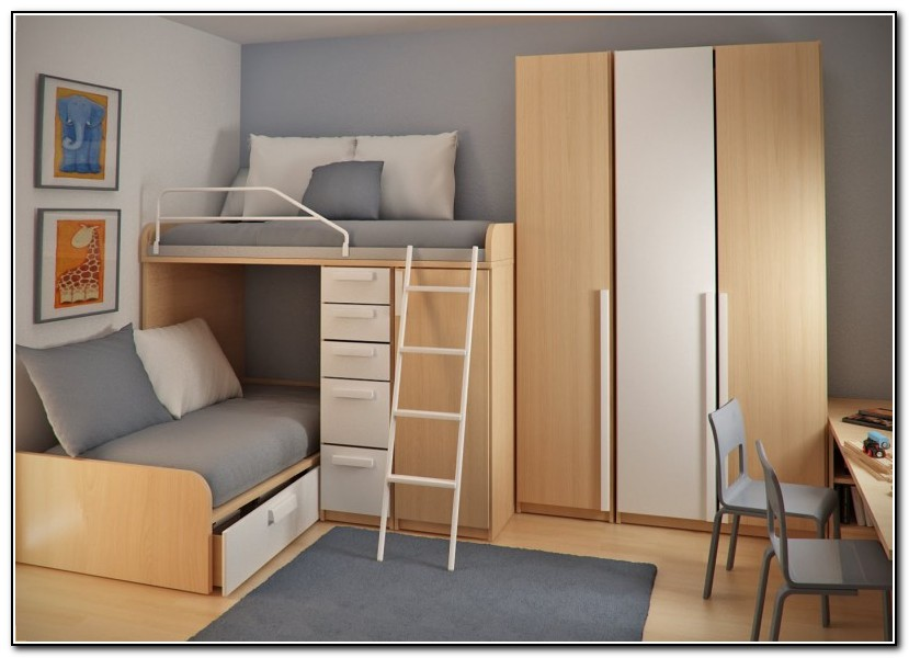 Double Loft Bed With Stairs