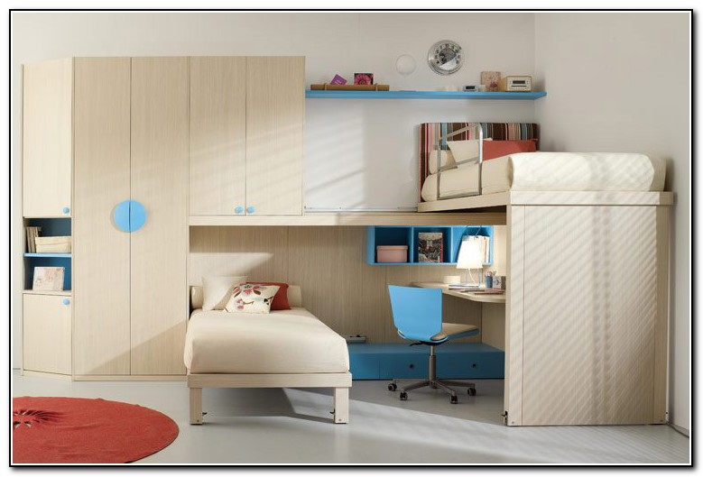 Double Loft Bed With Storage