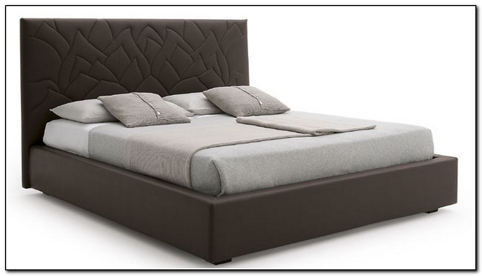 Faux Leather Platform Bed