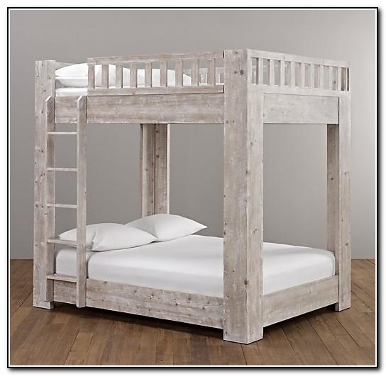 Full Over Full Bunk Bed White