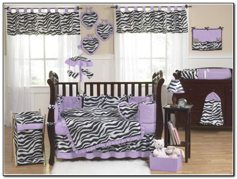 Girls Crib Bedding Purple
