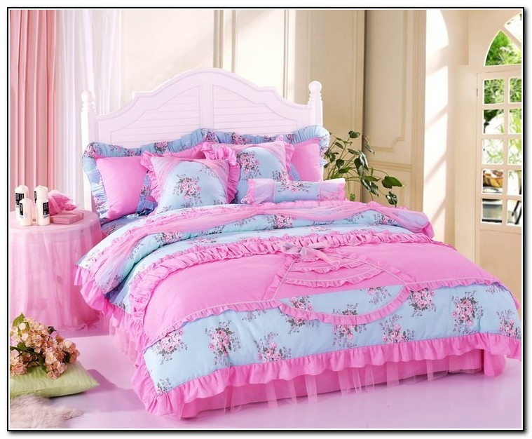 Girls Pink Ruffle Bedding