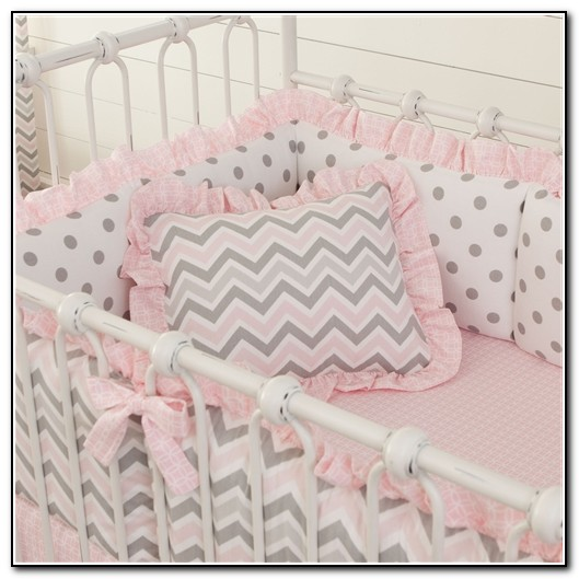 Hot Pink And Gray Baby Bedding