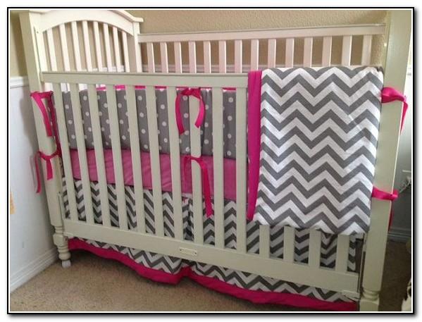 Hot Pink And Gray Crib Bedding