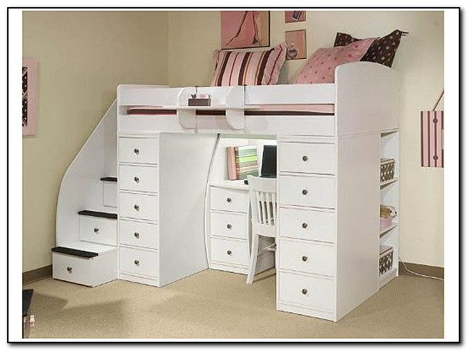 Kids Bunk Beds With Stairs And Desk