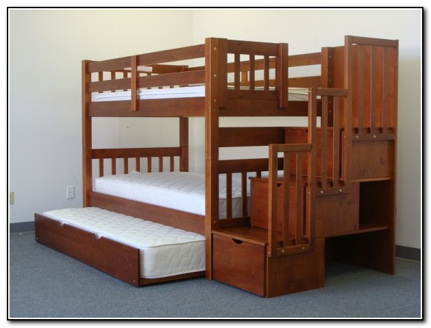 Kids Bunk Beds With Stairs And Trundle