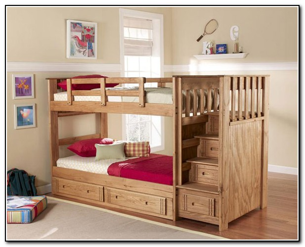 Kids Bunk Beds With Stairs Plans