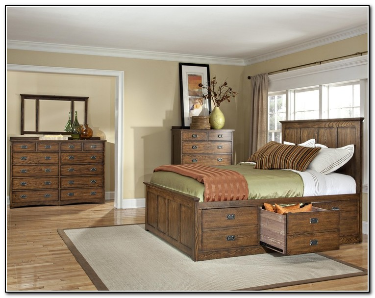 King Bed With Storage Underneath