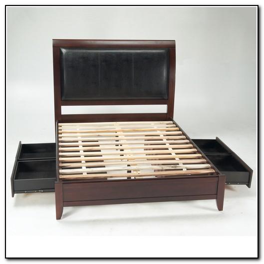 Leather Platform Bed Frame