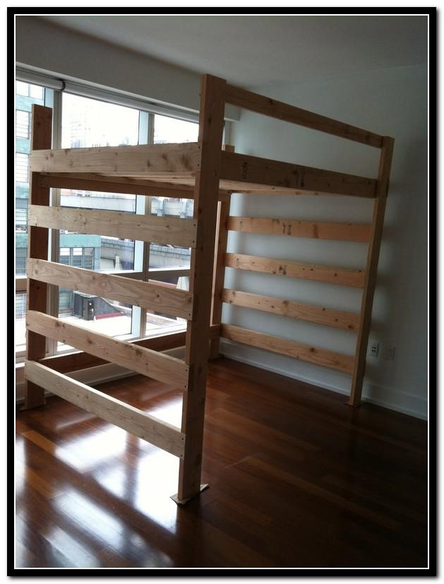 Loft Bed Frame Queen Size