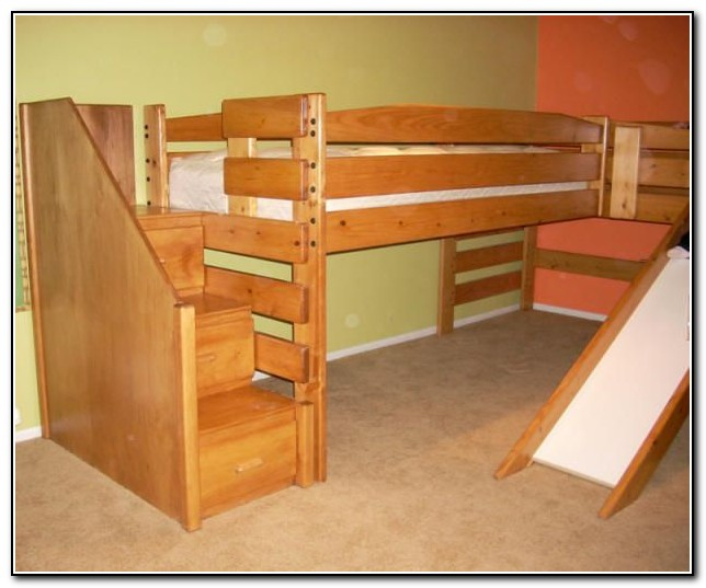 Loft Beds With Stairs And Slide