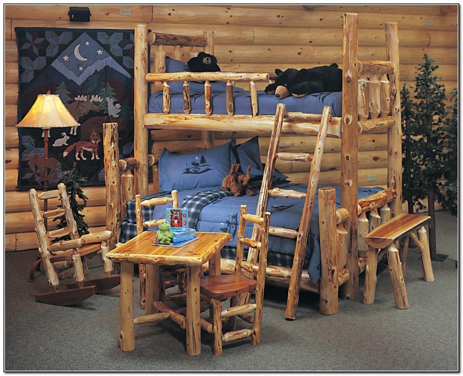 Log Bunk Beds For Kids