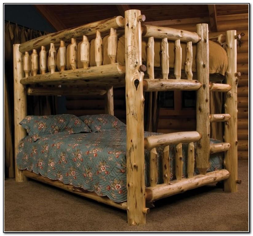 Log Bunk Beds Full Over Full