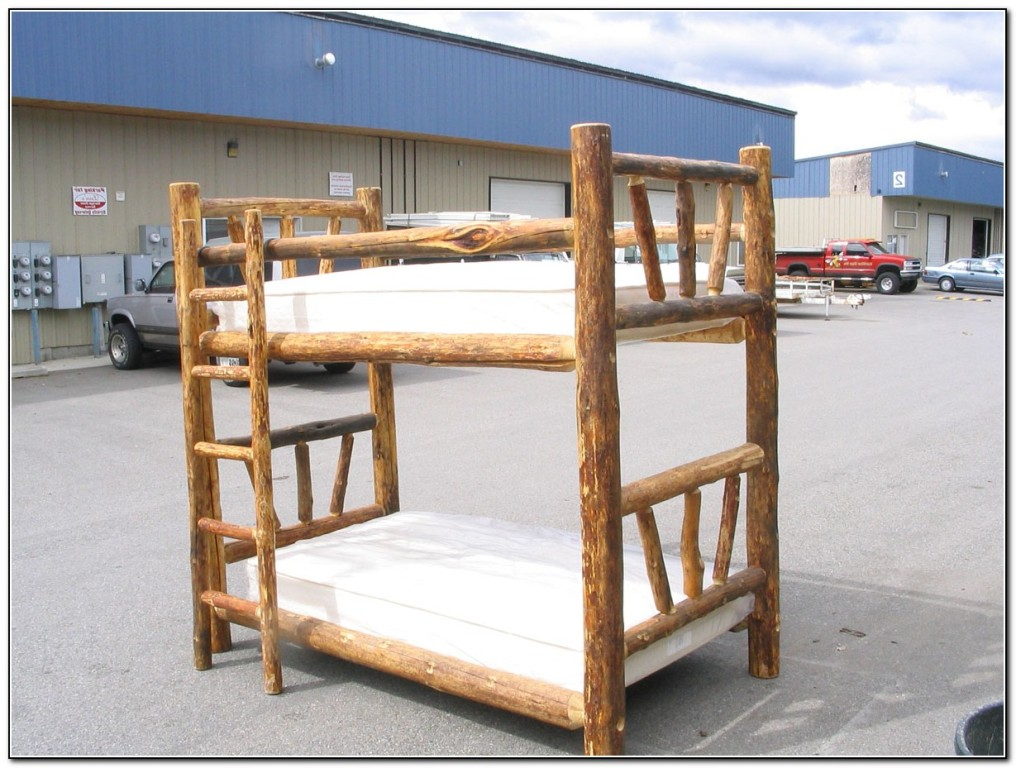Log Bunk Beds Twin Over Full