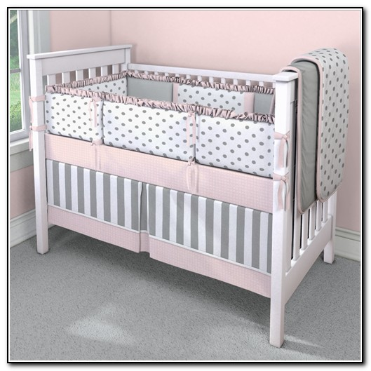 Pink And Gray Baby Bedding Etsy