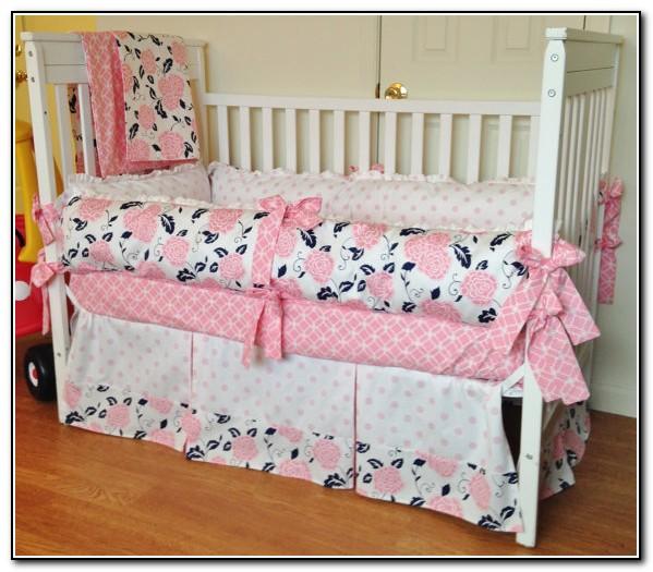 Pink Nautical Crib Bedding