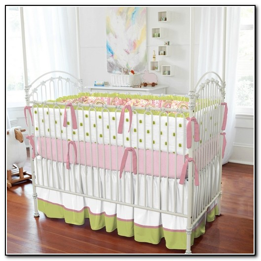 Pink Paisley Baby Bedding