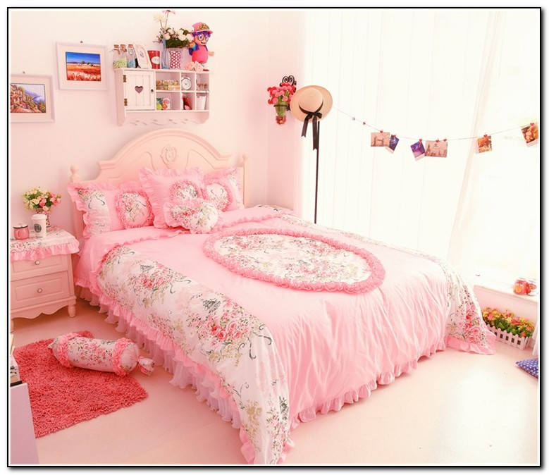 Pink Ruffle Bedding Full