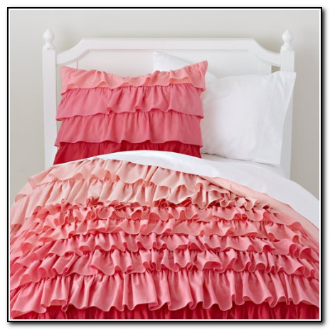 Pink Ruffle Bedding Set