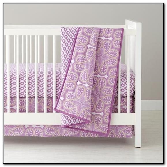 Purple Paisley Baby Bedding