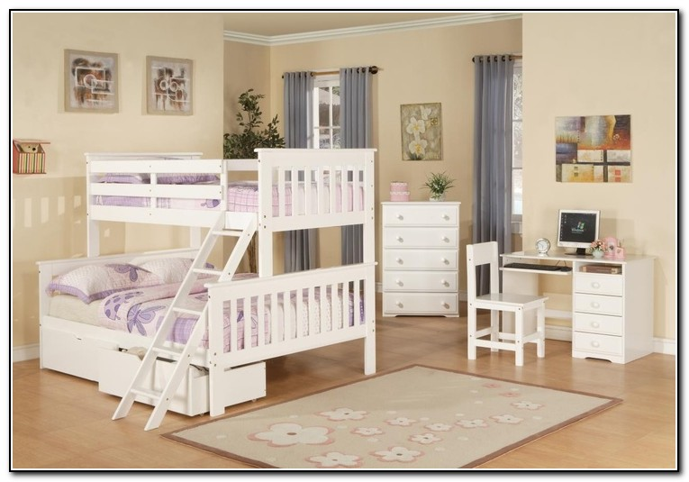 Solid Wood Bunk Beds White