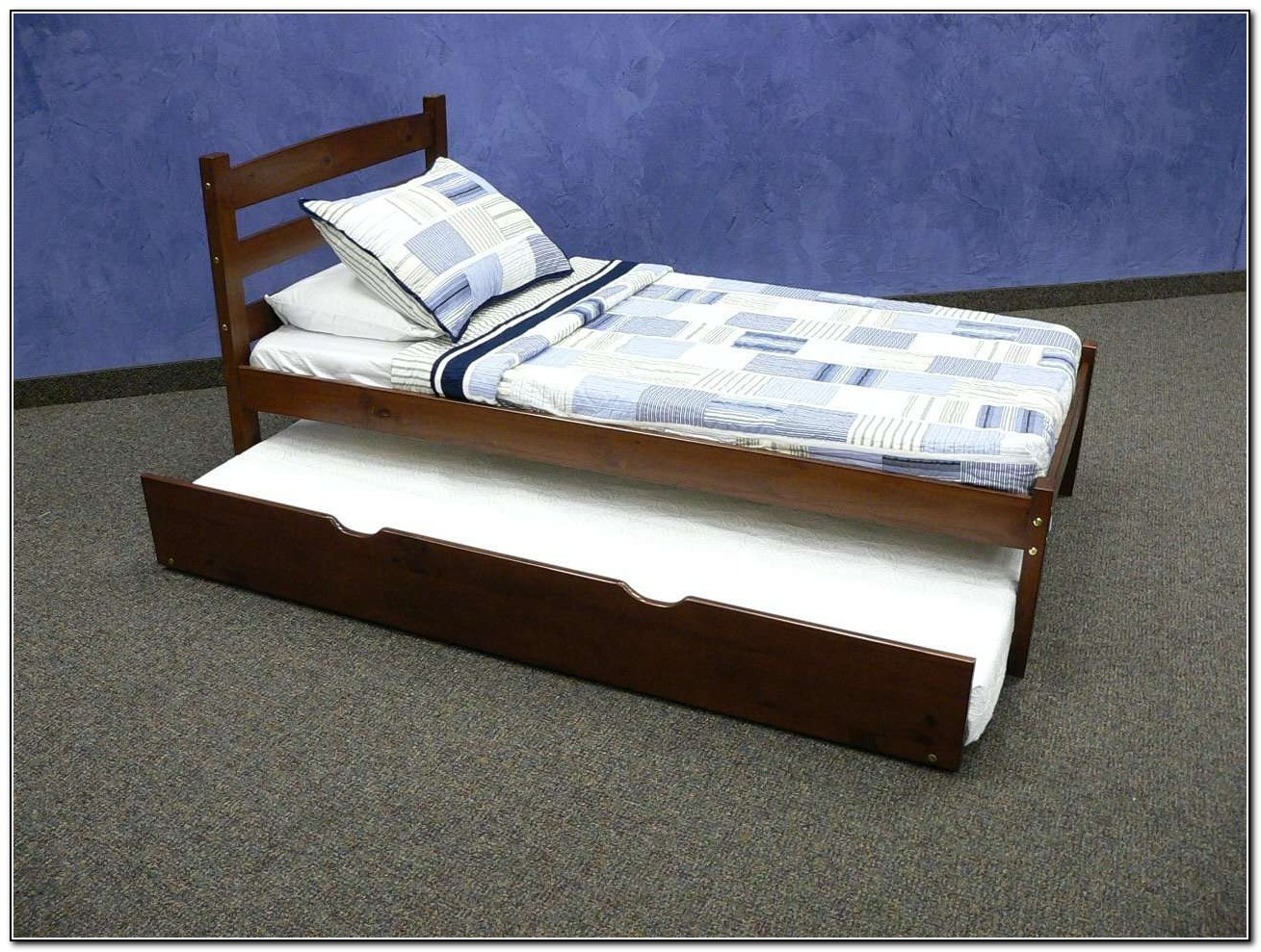 Solid Wood Bunk Beds With Trundle